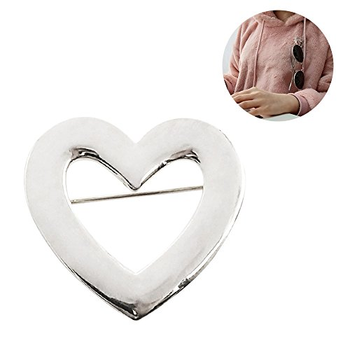 Eyeglass Holder Brooch Reading Glass Holder Trendy Heart-Shaped Brooch Pin Jewelry for Women - Shaped Eyeglasses Heart