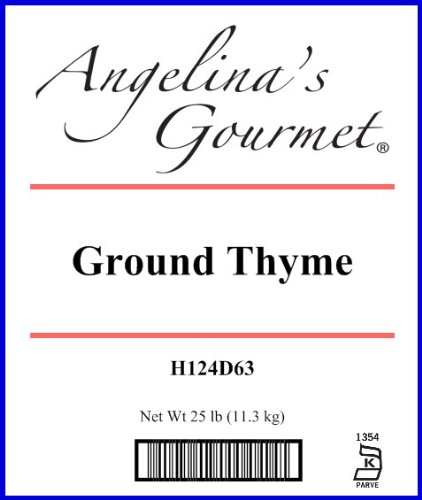 Thyme, Ground - 25 Lb Bag / Box Each by Woodland Ingredients