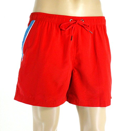 Just Speed Men's Swim trunks Shorts- With Pockets and Full Mesh Lining, Quick Dry to Provide Improve Performance (L, Red)