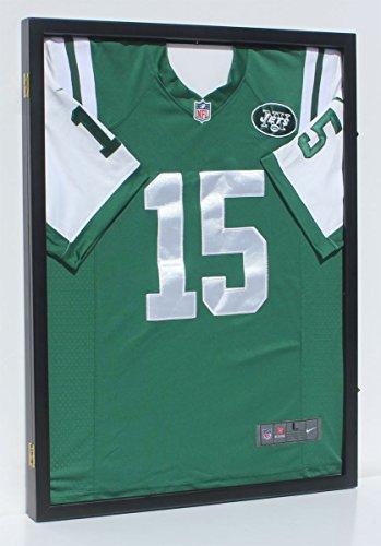 98% UV Protection - Baseball / Football / Basketball / Soccer / Hockey Jersey Display Case Shadow box Wall Mount JC34-BL