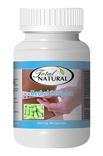 Herbal Complex 250mg 90c - [12 bottles] Diet And Energy Formulas by Total Natural
