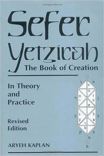 sefer yetzirah the book of creation aryeh kaplan 9780877288558