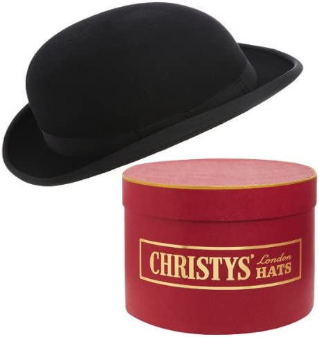 100/% Wool Felt Made in UK Black Bowler Hat by Christys/' of London