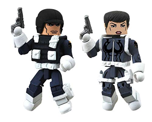 Diamond Select Toys Marvel Minimates Series 51 Marvel Now Maria Hill and Heavy SHIELD Agent Action Figure -