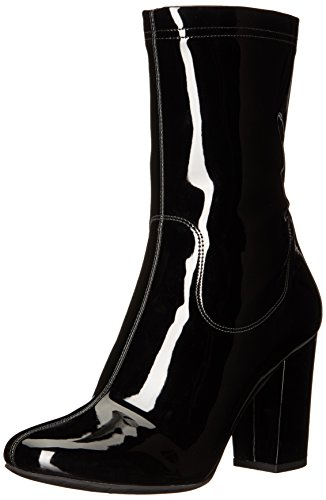 Heel Black Patent Ankle Boot - 7
