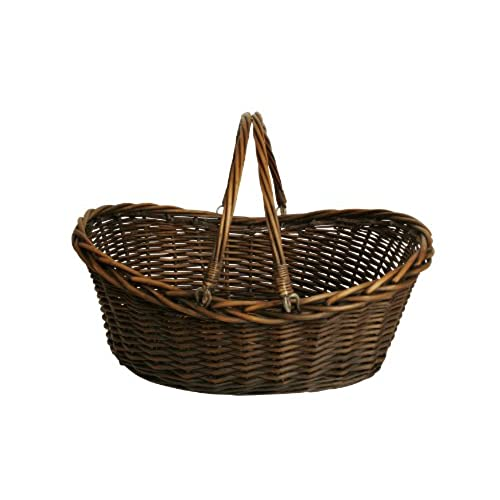 Wald Imports Brown Willow 195 Decorative Storage Basket
