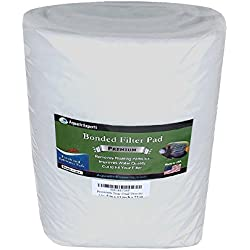 "Premium True Dual Density Filter Roll - 12"" by 72"" by 3/8"" to 1/2"" - Aquarium Bonded Prefilter Media Pad Dye-Free - Custom Made In USA For Aquatic Experts"