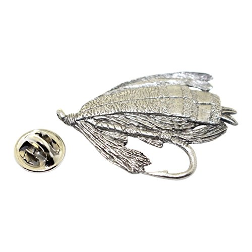 Salmon Fly Pin ~ Antiqued Pewter ~ Lapel Pin ~ Sarah's Treats & Treasures