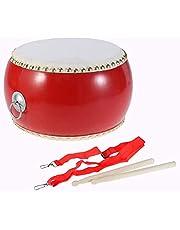 Large Leather Drum Antique Wooden Drumstick Chinese Tambourine Folk Dance Adult Drum Instrument Drum Children Learning Music