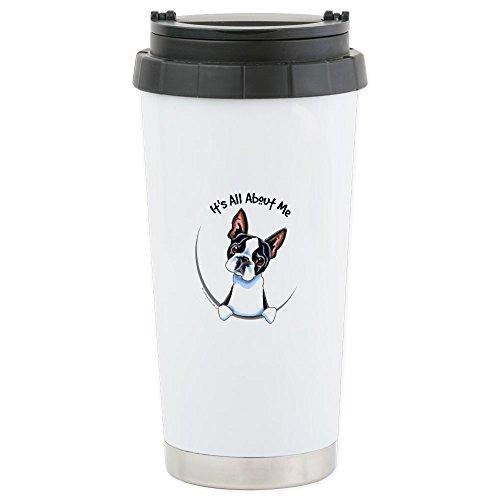 CafePress - Boston Terrier IAAM Stainless Steel Travel Mug - Stainless Steel Travel Mug, Insulated 16 oz. Coffee Tumbler