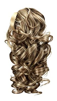 """Onedor 12"""" Synthetic Fiber Natural Textured Curly Ponytail Clip In/On Hair Extension Hairpiece"""