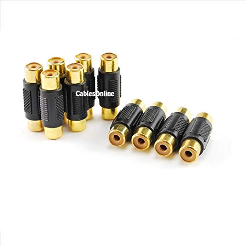 CablesOnline (10-pack) RCA Female to RCA Female Composite/Component Coupler - Gold Plated, (GC-204-10)