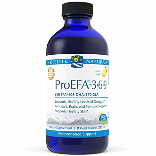 Nordic Naturals ProEFA 3-6-9 Liquid - Fish Oil and Borage Oil, 610 mg EPA, 405 mg DHA, 170 mg GLA, 400 mg Oleic Acid, Balance of Omegas for Heart, Brain, and Immune Health*, Lemon Flavored, 8 oz.