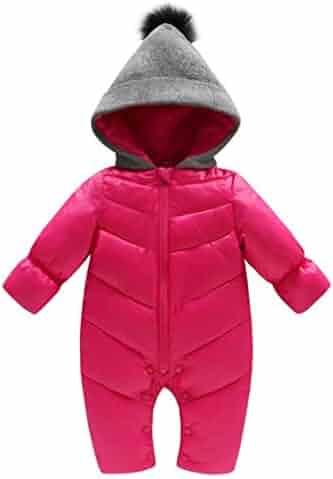 19b574e1f Genda 2Archer Unisex Baby Hooded Puffer Jacket Jumpsuit Winter Snowsuit  Coat Romper