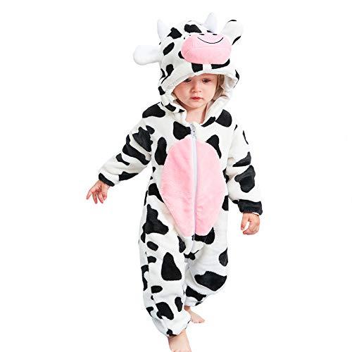LOLANTA Unisex-Baby Cartoon One-Piece Hoodie Pajamas Flannel Winter Warm Costume (24M, -