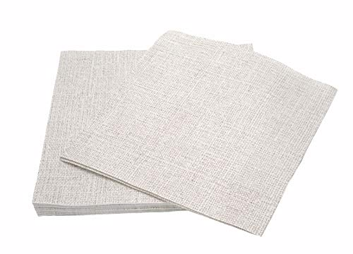"Simulinen Colored & Decorative Napkins – Grey Stone Twill – Cloth Like & Disposable Dinner Napkins – Soft, Absorbent & Durable – 16""x16"" – Pack of 50 ()"
