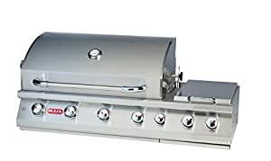 Bull Outdoor Products 18248 47-Inch 7 Burner Premium Stainless Steel Gas Barbecue with Built-in Dual Sideburner and Infrared Back Burner, Liquid Propane