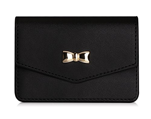 - FYY Business Card Holder, Handmade Premium Leather Business Name Card Case Universal Card Holder with Magnetic Closure (Hold 30 pics of Cards) Black