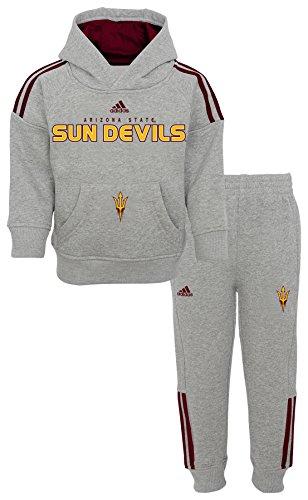 Outerstuff NCAA Arizona State Sun Devils Children Boys Training Day Fleece Hoodie & Tapered Pant Set, 18 Months, Heather Grey ()