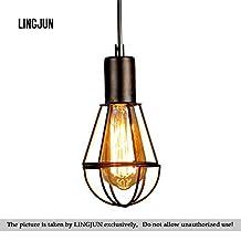 Metal Cage Iron Loft Industrial Vintage Loft Chandelier Pendant Ceiling Light Lamp Home Fixture Retro Art bar Pendant light (04)