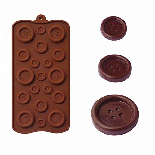 Amazon.com: Silicone Chocolate Mold, Cookies Mold, 3D Cute Button Shape Cake Decoration Tools, Moldes De Silicona Para Fondant, Kitchen Tools: Kitchen & ...