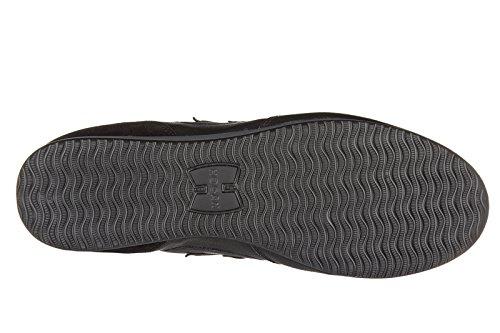Hogan chaussures baskets sneakers homme en cuir h205 olympia h flock noir