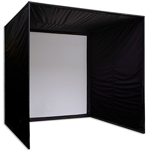 (1:1) 8h x 8w x 10d Ft Carl's Golf Simulator Enclosure with Standard Golf Impact Screen (Full-Depth 10' Deep) DIY Kit