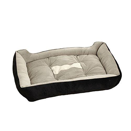 S-Lifeeling Pet Bed Comfort Soft Cat or Dog Bed, Machine Washable, Bolstered Microfiber, Modern Designer Inspired Pattern -