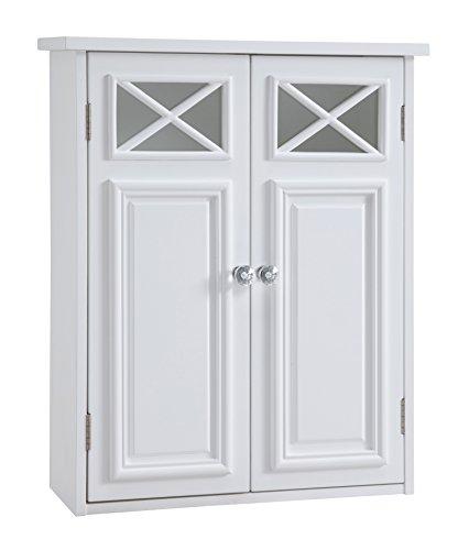 (Elegant Home Fashions Salem Wall Cabinet White)