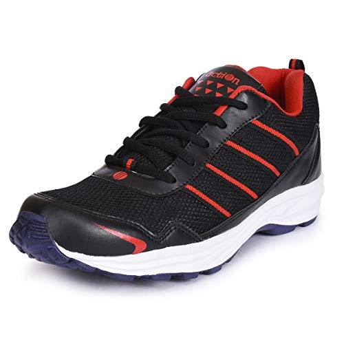 ACTION Men Esp-109-Black-Red_7 Black Running Shoes-7 UK (ESP-109)