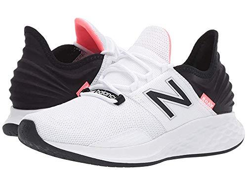 New Balance Women's Roav V1 Fresh Foam Running Shoe, White/Black/Guava, 8.5 B US