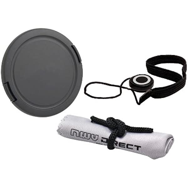 + Lens Cap Holder Includes Filter Adapter Lens Cap Side Pinch 58mm Nw Direct Microfiber Cleaning Cloth for Canon Powershot SX60 HS