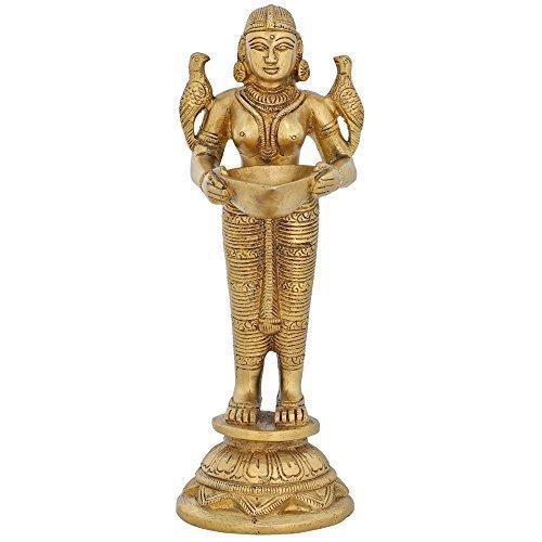 Deva Kanya from Hindu Mythology Holding a Diya by ShalinIndia