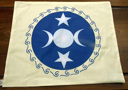 - Altar Cloth or Tarot Cloth - Triple Moon Goddess Altar Cloth, off-white