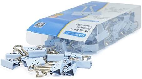 Rapesco Accesorios - Caja de 80 pinzas / clips de 19mm, hasta 75 hojas con sonrisas azules: Amazon.es: Oficina y papelería