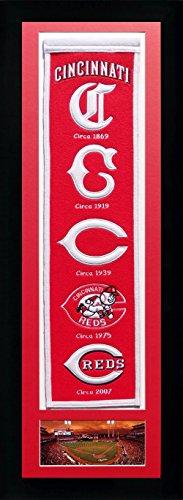 Legends Never Die MLB Cincinnati Reds Team Heritage Double Matted & Framed, Team Colors, 15