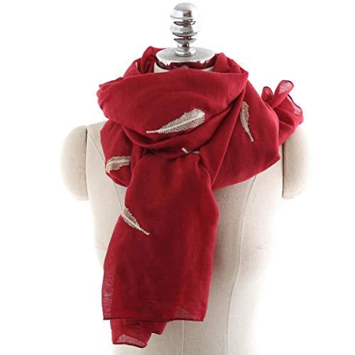 HYIRI emale Beach Multi-Purpose Shawl Scarf,Women Section Leaf Printing Scarf Fashion F -