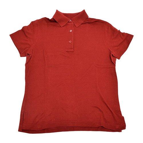 黄ばむセールステッチ(エルメス)HERMES 半袖 ポロシャツ レッド S(記載なし) [中古]