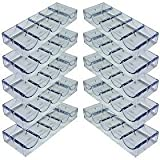 Da Vinci 10 Clear Acrylic Stackable Poker Chip Trays. Each Rack holds 100 chips