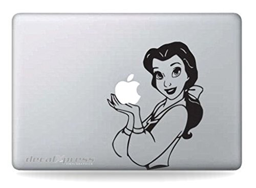 Disney Belle- Decal Sticker for MacBook, Air, Pro All (Disney Belle Sticker)