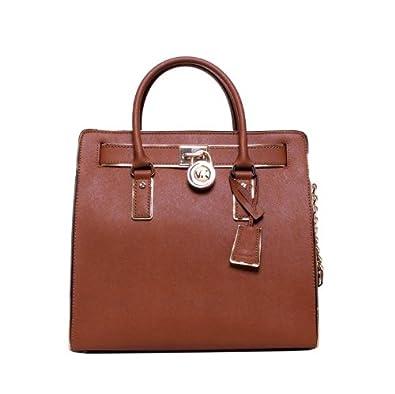 5c33fe9e5818 Amazon.com  MICHAEL Michael Kors Hamilton Specchio Large NS Tote (Coffee)   Shoes