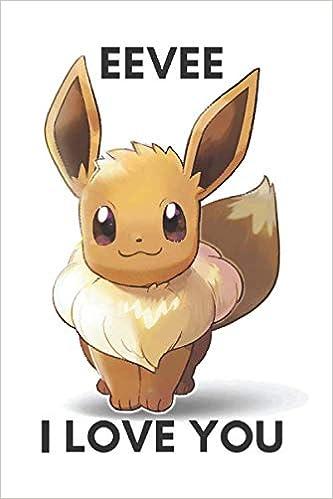 Amazon com: Eevee: I Love You: Pokemon GIANT Notebook, Eevee