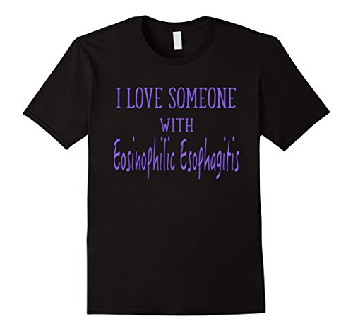 Men's I Love Someone With Eosinophilic Esophagitis T-Shirt Medium Black