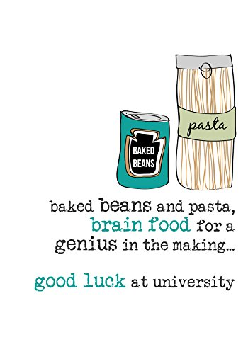 Good Luck at University Sparkle Finished Greeting Card by Dandelion Stationery