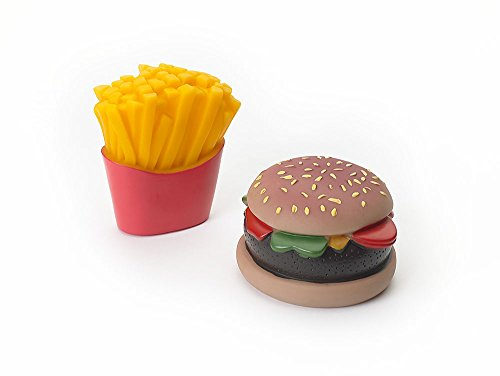 Ethical Pet Products (Spot) DSO5741 2-Pack Vinyl Burger and Fries Dog Toy