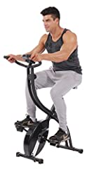 Have this folding stationary fitness bike, people can enjoy a moderate cycling workout anytime at home or office, no matter what they wear. Just get yourself on it, and start to cycle. When finished, it can folded away and put in a clo...
