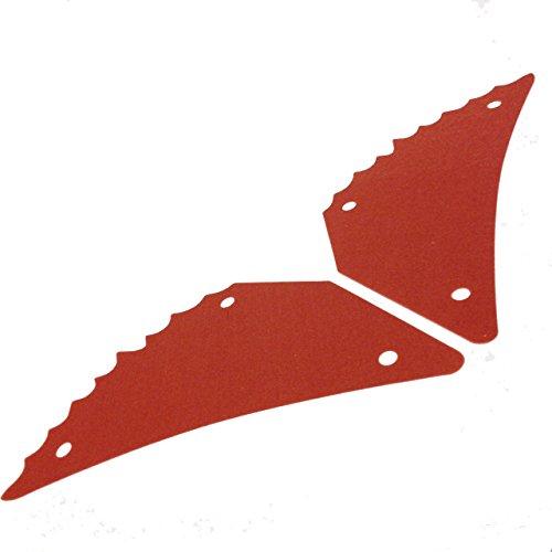 Lego Parts: Battle of Endor - Cloth Sails Triangular Tattered Edge - Pair of Dark Orange Ewok Glider Wings