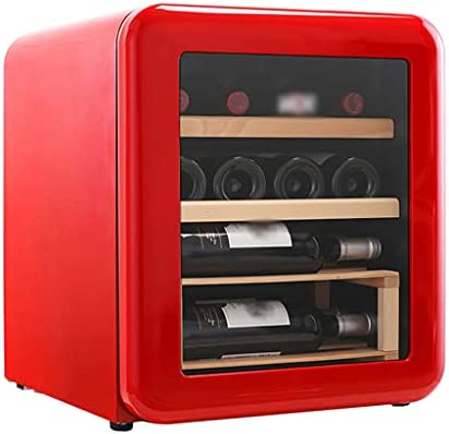 SHENXINCI Termostato Enfriador de Vino Retro Vinoteca 12 Botellas, 42 litros de Capacidad, Temperatura Regulable 4°C-22°C, Panel táctl, Display Digital, 75 W [Clase de eficiencia energética C]