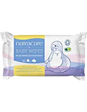 Natracare Organic Cotton Baby Wipes, 50 Count (Pack of 16)