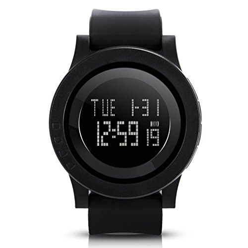 Hiwatch Mens Digital Watch Black Waterproof Sport Wrist Watches for Men